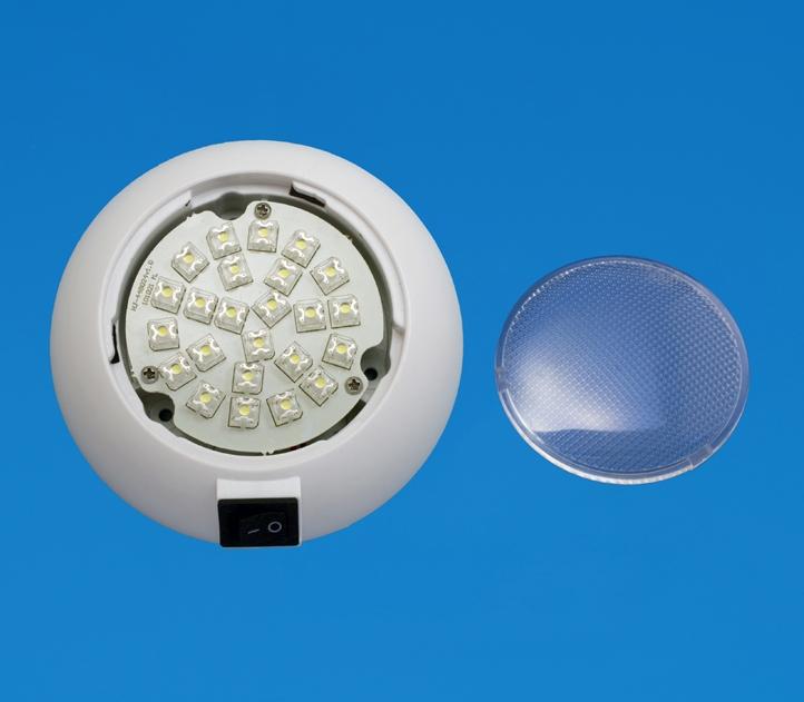 led 4 5 surface mount accent light white plastic cool. Black Bedroom Furniture Sets. Home Design Ideas