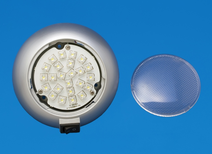 led 4 5 surface mount accent light silver plastic. Black Bedroom Furniture Sets. Home Design Ideas