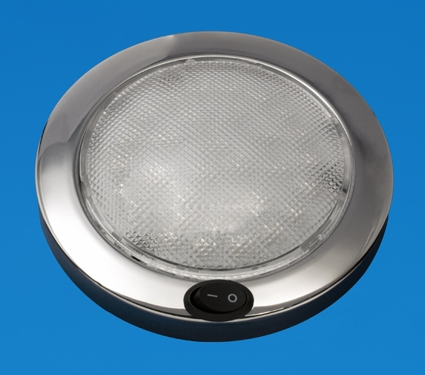 Led 5 5 Quot Led Dome Light Saturn Stainless Warm White