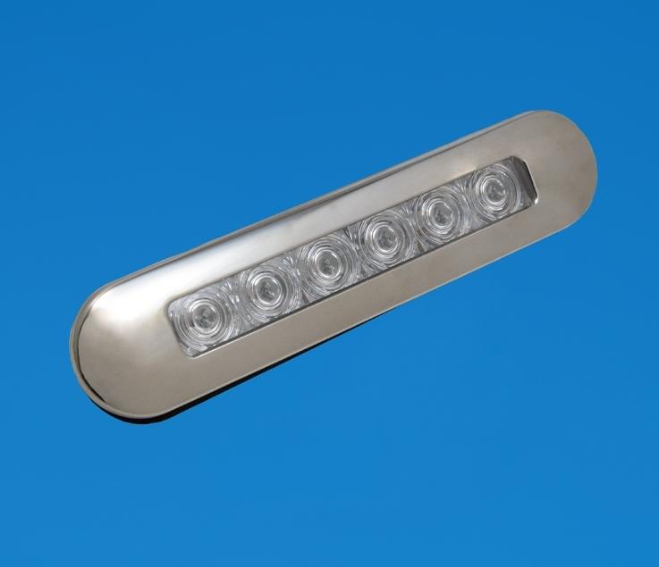 Flush Mount Strip Light Stainless Cool White LEDs 12V