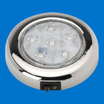 "4"" LED Puck Light - Stainless - With Switch - Warm White - 12-24V"