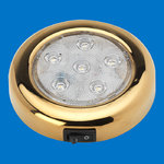 "4"" LED Puck Light - TIN Plated - With Switch - Warm White - 12-24V"