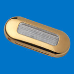 LED Oblong Courtesy Light - TIN Plated Golden - Warm White LEDs - 12V