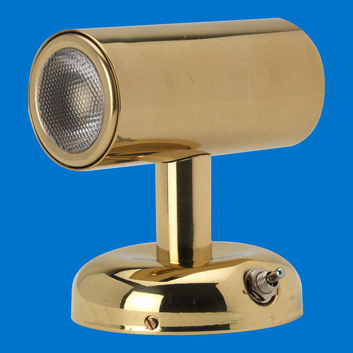 LED Mini Wall Light - Double Ended - Brass Lacquer - Warm White LEDs - 8-30V - HMS Marine ...