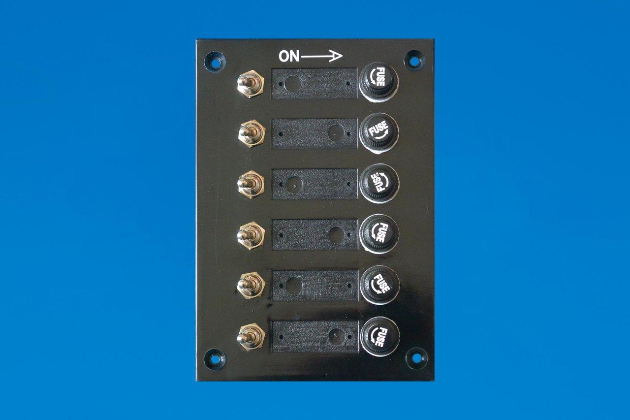 12v marine 6 gang fuse switch panel. Black Bedroom Furniture Sets. Home Design Ideas