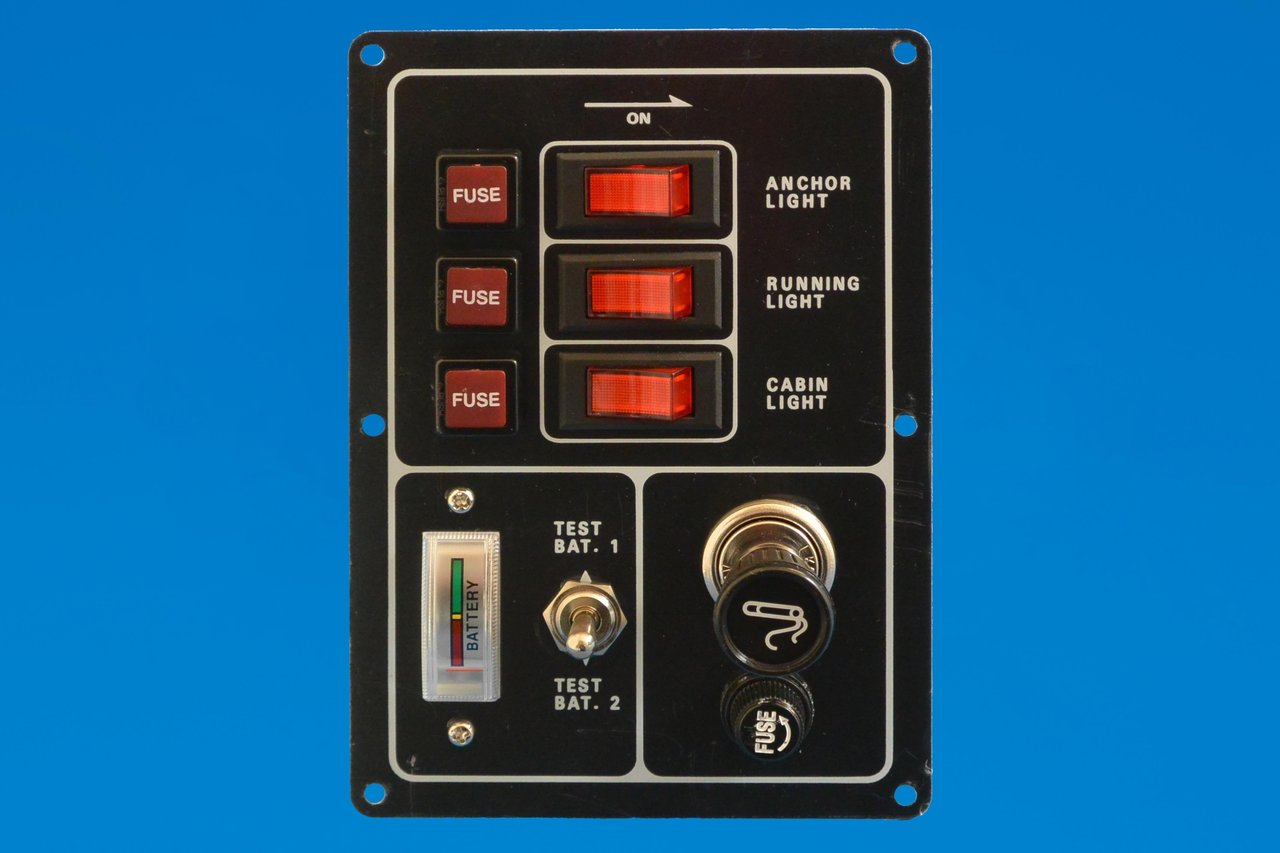 12v Switch Panel With Battery Test Gauge And Cigarette Lighter Marine Grade Wiring Diagrams