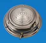 "LED 4.5"" Interior Dome Light - Stainless - Cool White - 12V"