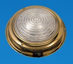 "LED 5.5"" Interior Dome Light - TIN Brass - Cool White LEDs - 12V"