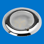 LED Recessed Mount - Chrome Plastic - Toggle Switch - Warm White LEDs - 12V