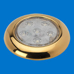 "4"" LED Puck Light - TIN Plated Golden - Without Switch - Warm White - 12V"